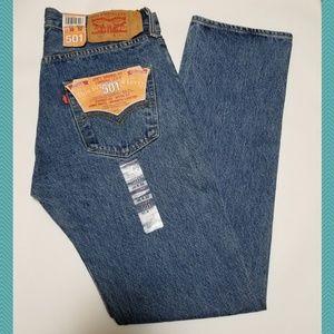 Levi's NWT 501xx Straight Leg Jeans w/ Button Fly